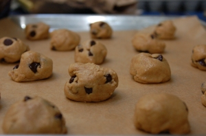 Cookies before baking