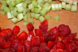 chopped fruit