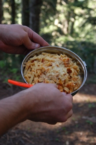 A gourmet meal, fit for a tired hiker -