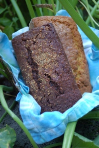 chocolate zucchini bread and regular