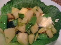 Sauteed Kohlrabi and Zucchini