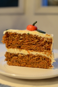 carrot cake with boiled milk icing
