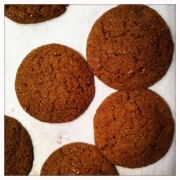 molasses barley cookies