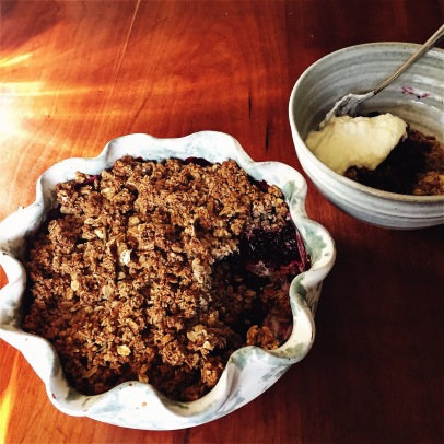 sugarfree berry crisp